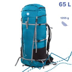 Hiking Backpack Lukla 65L, Turquoise, S