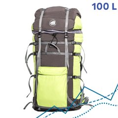 Ultralight Expedition Backpack Osh 100L, Green-grey, LL
