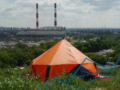 Expedition Marquee Tent Verva for 6-7 persons, Orange, 5600