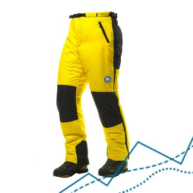 Full Zip Insulated Pants Shkhara 1.5, Yellow, XL, 700